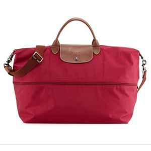Longchamp Le Pliage Expandable Travel Bag in Red